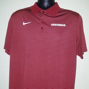 Nike Dri-Fit Arkansas Razorbacks Polo shirt L